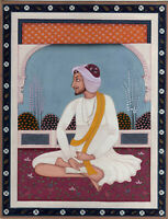 Miniature Portrait Of Prince OF Sikh Empire Handmade Sikh Art Painting On Paper