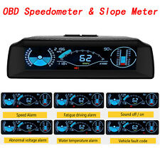 AUTOOL X90 OBD Speedometer Slope Meter Inclinometer Over-speed alarm 🔥