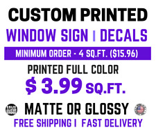 Custom Decal Sticker Self-Adhesive Vinyl Printing Services • FAST SHIPPING•