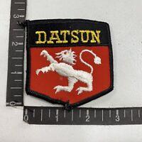 Vtg Embroidered Twill DATSUN Car Auto Patch 00WS