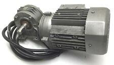 Bonfiglioli BN63B4 AC Motor 7/16HP 1630RPM 220-240/440-480VAC w/Wormgear, 20:1