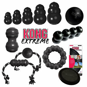 KONG EXTREME DOG TOY, Durable Rubber, Ribbon, Flyer,Ball, Dental XS S M L XL XXL