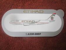 AUTOCOLLANT STICKER AUFKLEBER AIRBUS A330-200F ETIHAD AIRWAYS CRYSTAL CARGO
