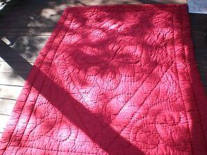 "Vintage RUSSIAN Quilt Blanket Throw Cotton Reversible 80"" X 56"" + 1 WHITE DUVET"