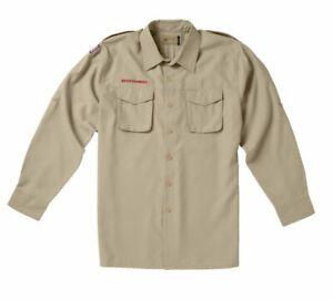 Boy Scouts Mens Long Sleeve Scouts Uniform 100% Polyester Microfiber Size XL
