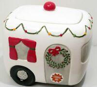 Happy Camper Air Stream Trailer Cookie Jar Christmas Wreath Vintage Style by TAG
