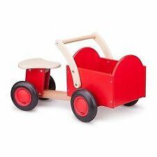 New Classic Toys - Drewniany rower z pojemnikiem cargo czerwony