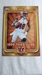 2013 Topps 1000 Yard Club Cincinnati Bengals Football Card #16 A.J. Green