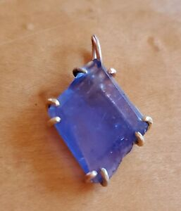 UNIQUE!!! Variance Objects Mixed Gold Tanzanite Pendant