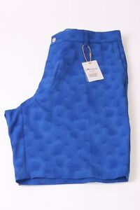 Peter Millar Men's Crown Sport Carrboro Fan Palm Twill Shorts - 36 W -  Blue