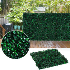 "Outsunny 12 Piece 20""x 20"" Artificial Boxwood Hedge Mat Plant Decorative Fences"