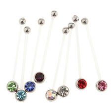 Pregnancy Flexible Belly Button Rings Navel Retainer Body Piercing