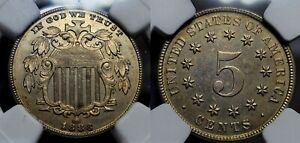 1883 Proof Shield Nickel 5c NGC Pr. Details Reverse Cleaned