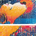 """26W""""x17H"""" STICKY, WET, ROMANTIC KISS by TOM EVERHART - SNOOPY CHOICES of CANVAS"""