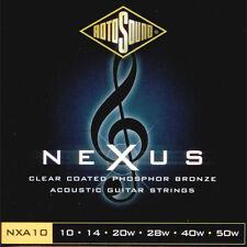 ROTOSOUND Jeu de cordes Folk NEXUS Phosphore bronze Clear coated 10-50 - NXA10