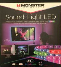 "Monster Illumination Sound to Light LED 65"" Strip With Remote For Mood Lighting"