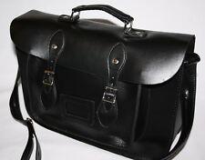 Classic Design Black Faux Leather Satchel NEW Vintage Retro Style Ladies Girls