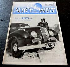 Auto und Motorrad-Welt 26/52 BMW 501,Renndieselmot. Cummings JSX,Pallas-Vergaser