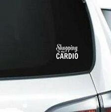 B235 Shopping Is My Cardio shop vinyl decal car sticker