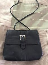 Black Leather Kenneth Cole Sling Cross Body Small  Travel Purse