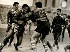 New listing LG922 1955 AP Wire Photo FRANCE vs AUSTRALIA RUGBY GAME France Loses 25 to 0