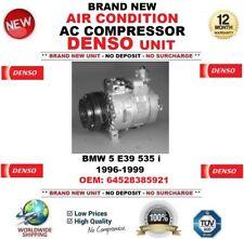 DENSO AIR CONDITION AC COMPRESSOR for BMW 5 E39 535 i 1996-1999 OEM: 64528385921