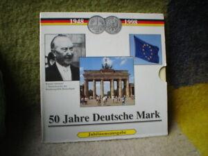 50 JAHRE  DEUTSCHE MARK  COINS 1948-1998 JUBILAUMSAUSGABE  DEUTSCHLAND
