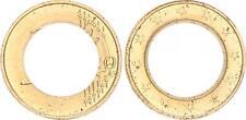 Malta 1 € Esito negativo impresso solo su esterno caratterizzato Anello senza pillola, PRFR. RRR!