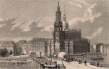 DRESDEN. Augustus Bridge. Court Church. Royal Castle. Germany 1882 old print