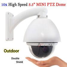 "High Speed 10x Zoom 1/3"" SONY CCD 700TV Outdoor PTZ MINI Dome CCTV Camera 360°"