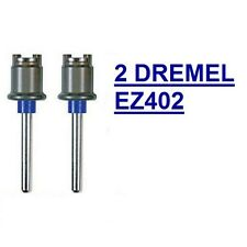 2 NEW DREMEL EZ LOCK MANDREL EZ402, USE WITH ALL DREMEL EZLOCK ACCESSORIES NOS