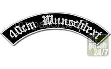 Aufnäher Patch Bogen oben XL 40cm Wunschname MC Rocker  Biker Kutte Motorcycle