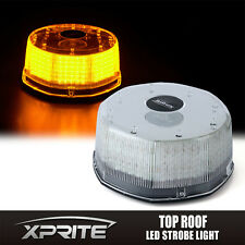 240 LED Sun Beam Strobe Rotating Round Beacon Rooftop Emergency Light AMBER
