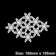 Rhinestone Diamante Crystal Motif Rose Gold Applique Bridal Dress 140mm X 35mm