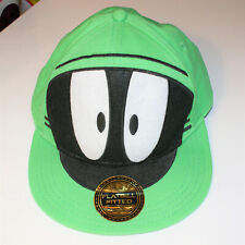 11e7f2e7865 Marvin the Martian Hat Fitted Flatbill Size L - XL Bright Green Baseball Cap