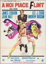 IN LIKE FLINT Italian 2F movie poster 39x55 JAMES COBURN 1966 BOB PEAK
