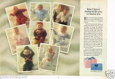 Publicité advertising 1983 (2 pages) Les Vetements pour enfants layette Clayeux