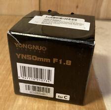 YONGNUO DIGITAL YN50mm F1.8 Standard  Prime Lens.