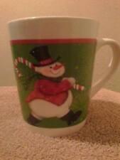Handmade  Red Cinnamon Candle in Decorative Holiday Mug, Christmas Gift