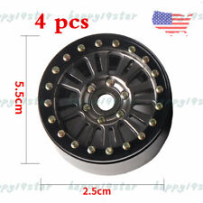 "4PCS Aluminum 1.9"" Beadlock Wheel Rim for 1:10 RC Crawler Axial SCX10II D90 TRX4"