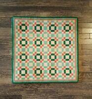"Dollhouse miniature artisan made needlepoint rug 6"" x 5 7/8"" signed"