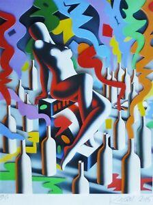 MARK KOSTABI Chemistry 3D CONSTRUCTION SERIGRAPH HAND SIGNED URBAN ART US ARTIST