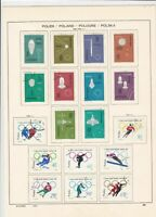 poland 1964 olympics & 1963 space + mixed stamps page ref 17261
