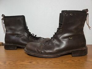 Buttero Men's Lace Up Boots Brown Leather, Sz 10 (43) Hand Made in Italy