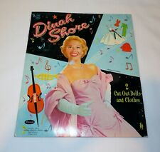 1958 Vintage Dinah Shore Paper Dolls Folder Whitman ~ 2 Dolls And Clothes