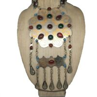 170.5 Grams Old Vintage Afghan Turkmen Tribal Gold-Gilded Carnelian Necklace, TN