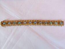 Vintage 14ct Gold and Opal Moderne Bracelet Germany 12 Opals Valuation