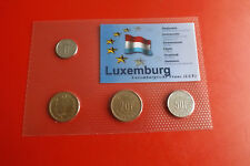 * Luxemburg KMS  in Blister 4 Münzen* 1 - 50 Francs (ALB-P5)