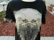 TWOANGLE T-Shirt Black with Panther Size Large
