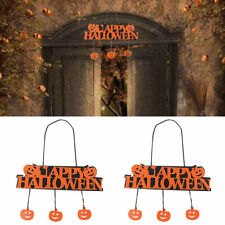 Happy Halloween Pumpkin Banner Pendant Door Decor Hanging Party Decoration